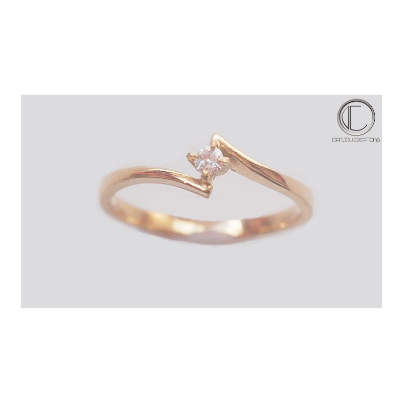 18-kt. Diamond Solitaire ring