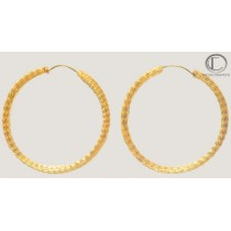 Creols earrings.18cts Gold 750/1000