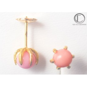 BOUCLES CONCH PEARL.OR 750/1000